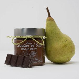 Confettura extra di pere, cioccolato fondente e grappa di Moscato
